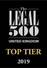 Legal 500 2019 accreditation badge